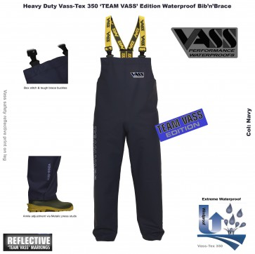 Heavy Duty Vass-Tex 350 Team Vass Edition 3 Bib and Brace