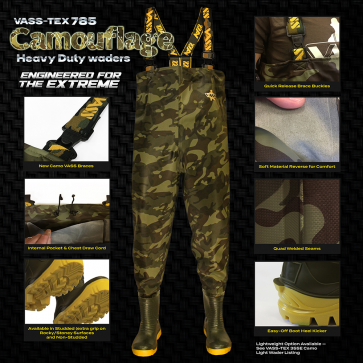 Vass-Tex 785 'Heavy Duty' Camouflage Waders