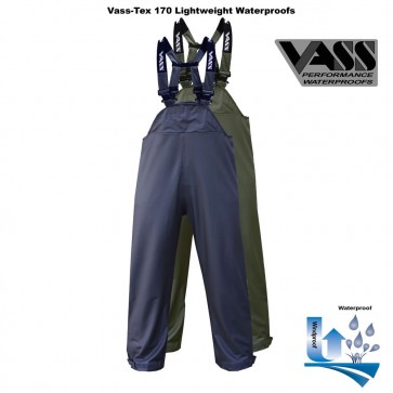 Vass-Tex 170 Performance Lightweight Waterproof Bib & Brace with Ankle Zips