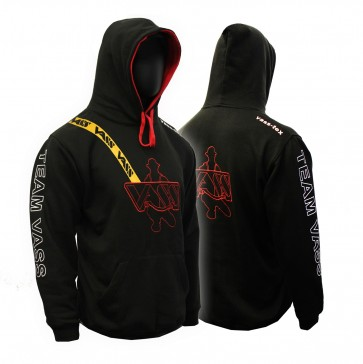 New 'Team Vass' edition two colour hoody with yellow print brace