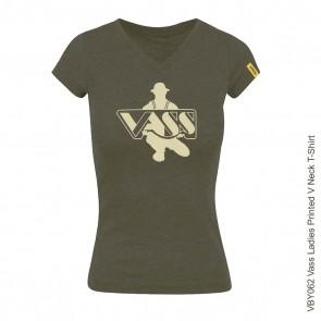 Vass Ladies Printed V Neck T-Shirt