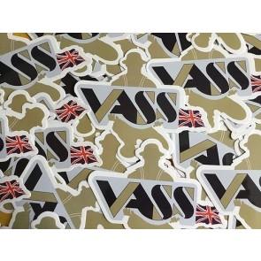 Vass Tackle Box Sticker x 2