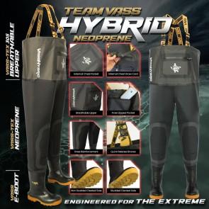 Team Vass Hybrid Neoprene / Breathable Chest Wader