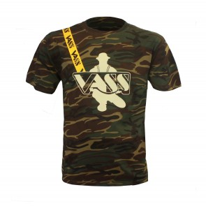 Vass 'Classic Printed' Camouflage T-Shirt with Yellow Vass Strap